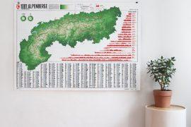 Alpenkarte mit 1001 Alpenbergen und 20 Wanderwegen | Marmota Maps