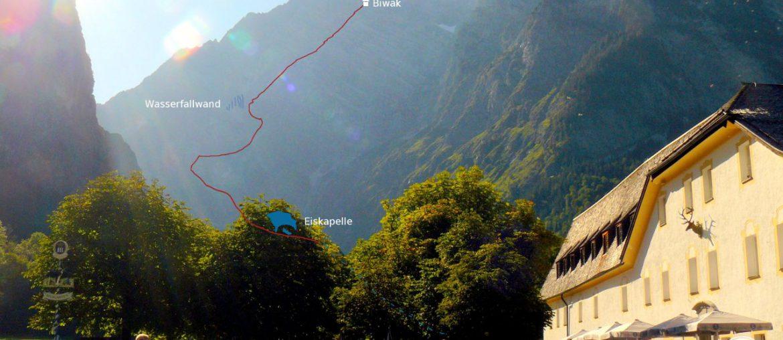 auf dem Berchtesgadener Weg durch die Watzmann Ostwand