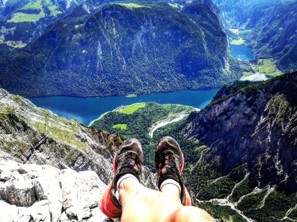 Auch Trailrunningschuhe haben sich eine tolle Aussicht verdient.