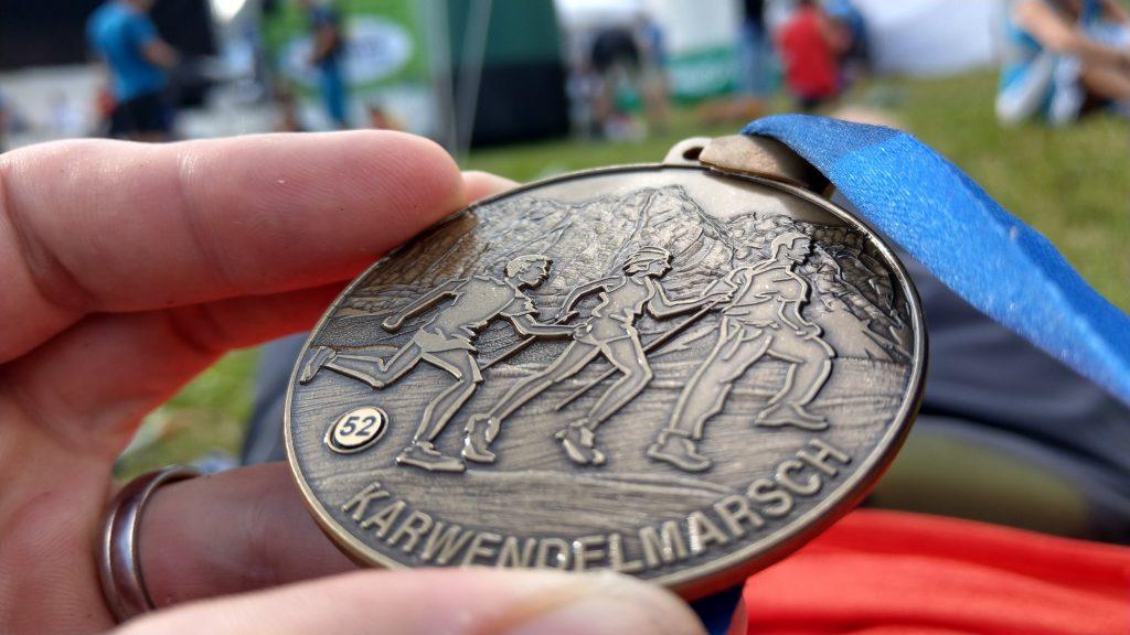 Medaille der 52 Strecke vom Karwendelmarsch
