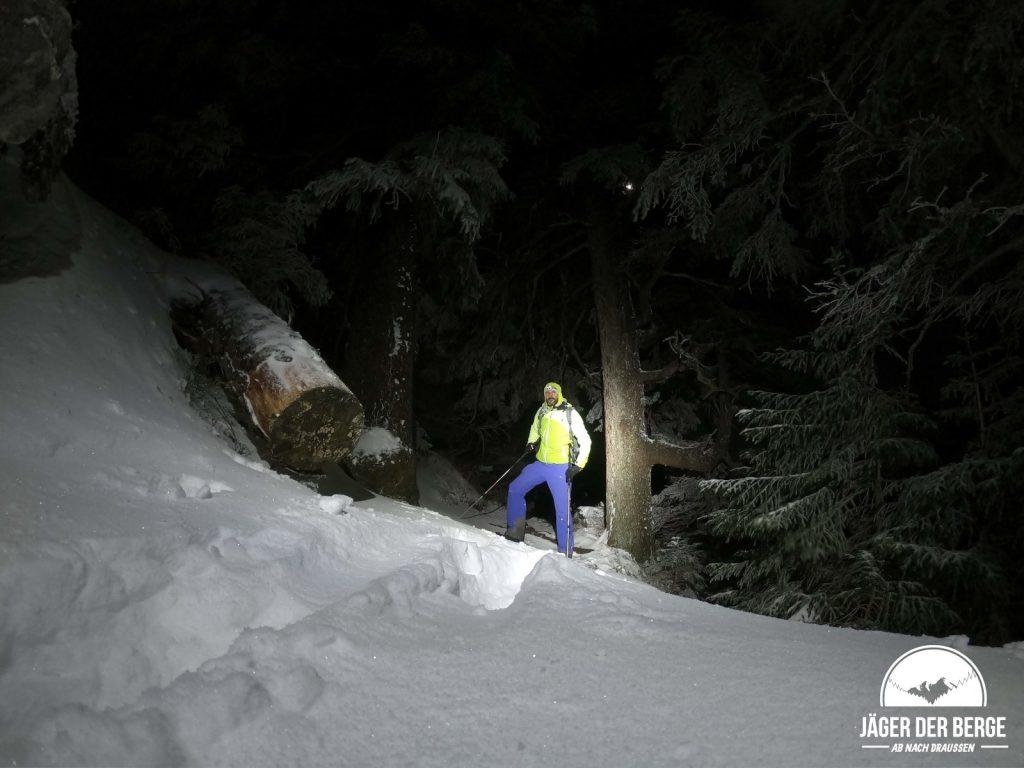 Flo von Boulderniete.com im Abstieg vom Rauhen Kopf